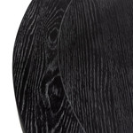 Lorne Round Wooden Dining Table - Full Black