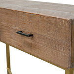 Injune Reclaimed Pine Narrow Wood Console Table