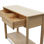Morgan Console Table with Drawers - Oak