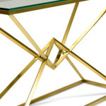 Young Glass Console Table - Gold Base