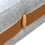 Kerang 3 Seater Sofa Bed - Light Blue