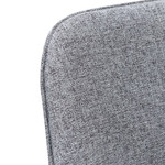 Enngonia Bright Dining Chair - Pebble Grey Fabric with Black Legs