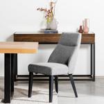 Gosford Casino Fabric Dining Chair - Oslo Grey - Black Legs