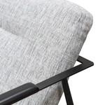 Heyfield Fabric Armchair - Light Spec Grey - Black Legs