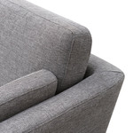 Normanton 3 Seater Fabric Sofa - Graphite Grey