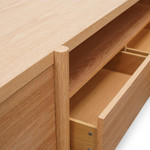 Ilfracombe Entertainment TV Unit - Lowline - Full Natural - Timber Legs