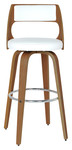Abby Beech Timber White Cushioned Stool