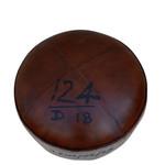 James Vintage Leather Ottoman