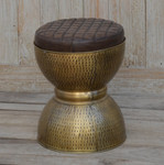 Henry Iron Drum Stool