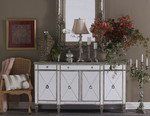 Laura Mirrored Sideboard Antiqued Ribbed