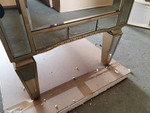 Marcus Mirrored 3 Drawer Chest Antique Ribbed