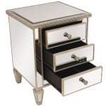 Marcus Mirrored Bedside Ribbed