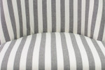 Jane Dining Chair Black & White Narrow Stripe with ring