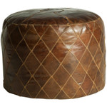 Rum Aged Leather Ottoman