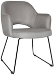 Albury Black Sled Arm Chair