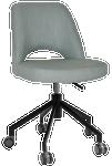 Albury Black Castor Chair