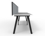 Fluid 2 Person Single Sided Workstation With Screen