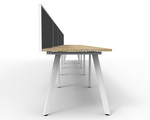 Fluid 5 Person Single Sided Workstation With Screen