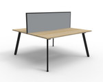 Fluid 2 Person Double Sided Workstation With Screen