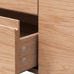 Dayton Natural Oak TV Entertainment Unit with Middle Drawer