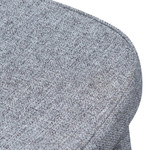 Intrigue Pebble Grey Fabric Dining Chair