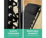 Arncliffe Black Outdoor Portable Recliner