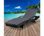 Bangor Black Outdoor Sun Lounge