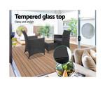Banksia 3pc Black Bistro Furniture Set