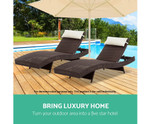 Bardia Brown Outdoor Sun Lounge