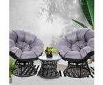 Beecroft Papasan Chair & Side Table Set