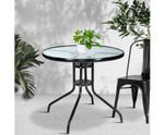 Berrilee Steel Glass Dining Table Bar