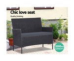 Bexley 4pc Wicker Set Chair Table