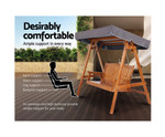 Caddens Wooden Swing Bench Canopy