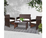 Canterbury Outdoor Wicker Chairs & Table