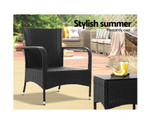 Carramar Conversation Set Chairs Table