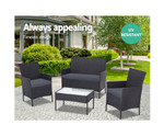 Castlereagh Set 4 Outdoor Chairs & Table
