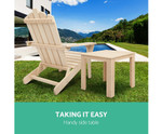 Chippendale Wooden Outdoor Side Table