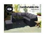 Claymore Black Dining Sofa Set Lounge