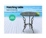 Clontarf  Aluminium Bistro Chairs Table