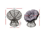 Colyton Papasan Chair & Table Set