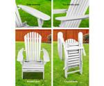 Cowan Adirondack Beach Chair & Ottoman