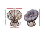 Cremorne Papasan Chair & Table Set