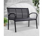 Dharruk Steel Lounge Patio Park Bench