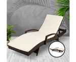 Jannali Brown Outdoor Sun Lounge
