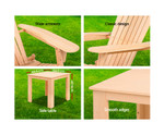 Lidcombe 3PC Outdoor Chair &Table Set