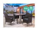 Llandilo Grey 5PC Dining Set Chairs Table