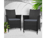 Luddenham Set of 2 Chairs Patio Dining