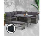 Lurnea 8 Seater Dining Setting Sofa Set