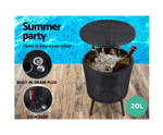Maraylya Chairs Table Cooler Ice Bucket