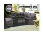 Minto 8 Seater Dining Setting Sofa Lounge